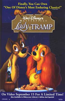 Lady and the Tramp - 11 x 17 Movie Poster - Style B