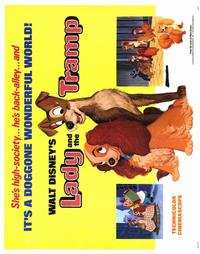 Lady and the Tramp - 22 x 28 Movie Poster - Half Sheet Style A