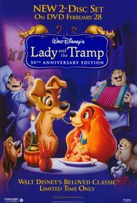 Lady and the Tramp - 27 x 40 Movie Poster - Style B