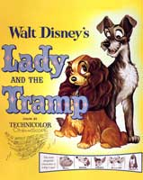 Lady and the Tramp - 40 x 40 - Movie Poster - Style A