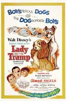 Lady and the Tramp - 11 x 17 Movie Poster - Style E