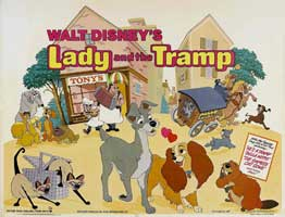 Lady and the Tramp - 30 x 40 Movie Poster UK - Style A
