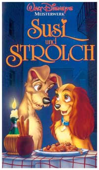 Lady and the Tramp - 11 x 17 Movie Poster - German Style A