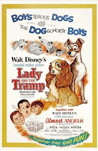 Lady and the Tramp - 27 x 40 Movie Poster - Style F