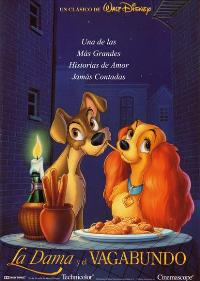 Lady and the Tramp - 43 x 62 Movie Poster - Spanish Style B