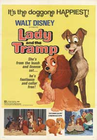Lady and the Tramp - 43 x 62 Movie Poster - Bus Shelter Style A