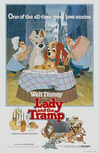 Lady and the Tramp - 27 x 40 Movie Poster - Style G