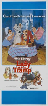 Lady and the Tramp - 13 x 30 Movie Poster - Australian Style A