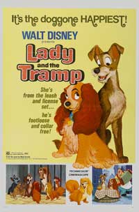 Lady and the Tramp - 27 x 40 Movie Poster - Style H