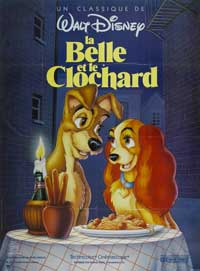 Lady and the Tramp - 27 x 40 Movie Poster - French Style A