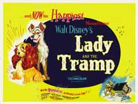Lady and the Tramp - 30 x 40 Movie Poster - Style A