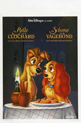 Lady and the Tramp - 27 x 40 Movie Poster - Belgian Style A