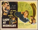 Lady at Midnight - 22 x 28 Movie Poster - Half Sheet Style A