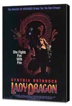 Lady Dragon - 27 x 40 Movie Poster - Style A - Museum Wrapped Canvas