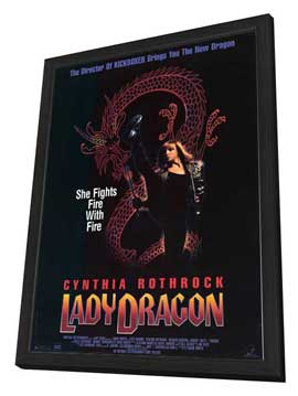 Lady Dragon - 27 x 40 Movie Poster - Style A - in Deluxe Wood Frame