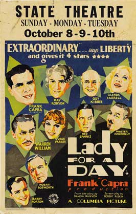 Lady for a Day - 11 x 17 Movie Poster - Style D
