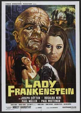 Lady Frankenstein - 11 x 17 Movie Poster - Style B