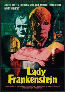 Lady Frankenstein - 27 x 40 Movie Poster - German Style A