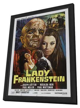 Lady Frankenstein - 11 x 17 Movie Poster - Style B - in Deluxe Wood Frame