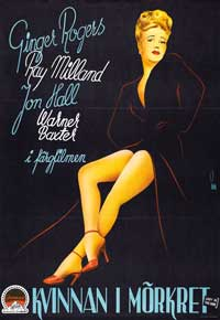 Lady in the Dark - 11 x 17 Movie Poster - Swedish Style A