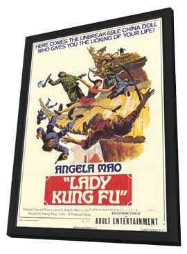 Lady Kung Fu - 27 x 40 Movie Poster - Style A - in Deluxe Wood Frame