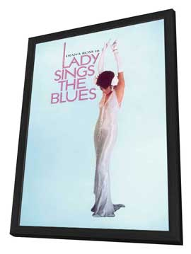 Lady Sings the Blues - 27 x 40 Movie Poster - Style E - in Deluxe Wood Frame