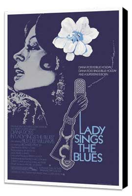 Lady Sings the Blues - 27 x 40 Movie Poster - Style B - Museum Wrapped Canvas
