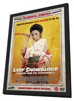 Lady Snowblood - 11 x 17 Movie Poster - Danish Style A - in Deluxe Wood Frame