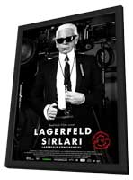 Lagerfeld Confidential - 11 x 17 Movie Poster - Turkish Style A - in Deluxe Wood Frame
