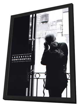 Lagerfeld Confidential - 27 x 40 Movie Poster - French Style A - in Deluxe Wood Frame