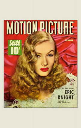 Veronica Lake - 11 x 17 Motion Picture Magazine Cover 1940's Style A