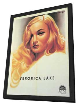 Veronica Lake - 11 x 17 Movie Poster - Style A - in Deluxe Wood Frame