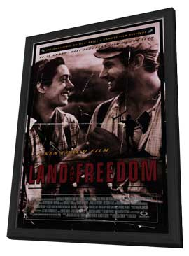 Land and Freedom - 27 x 40 Movie Poster - Style A - in Deluxe Wood Frame