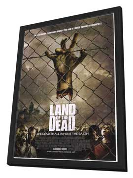 Land of the Dead - 27 x 40 Movie Poster - Style B - in Deluxe Wood Frame