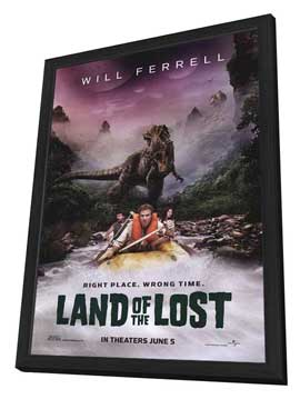 Land of the Lost - 27 x 40 Movie Poster - Style A - in Deluxe Wood Frame