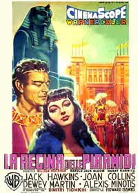 Land of the Pharaohs - 11 x 17 Movie Poster - Italian Style A