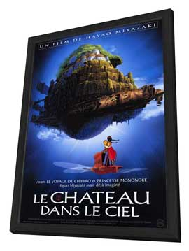 Laputa: Castle in the Sky - 30 x 40 Movie Poster - French Style A - in Deluxe Wood Frame