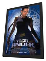 Lara Croft: Tomb Raider - 27 x 40 Movie Poster - Style A - in Deluxe Wood Frame
