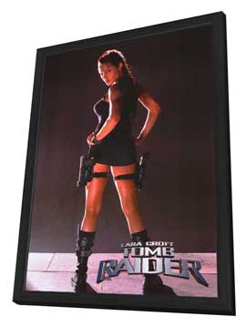 Lara Croft: Tomb Raider - 27 x 40 Movie Poster - Style B - in Deluxe Wood Frame