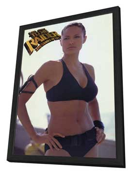 Lara Croft Tomb Raider: The Cradle of Life - 27 x 40 Movie Poster - Style B - in Deluxe Wood Frame