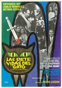 Las Siete vidas del gato - 27 x 40 Movie Poster - Spanish Style A