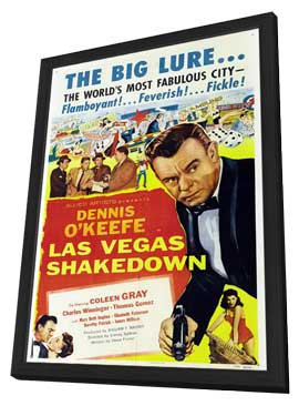 Las Vegas Shakedown - 11 x 17 Movie Poster - Style A - in Deluxe Wood Frame