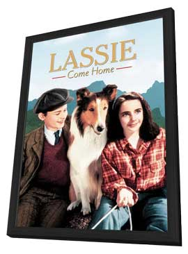 Lassie, Come Home - 27 x 40 Movie Poster - Style C - in Deluxe Wood Frame