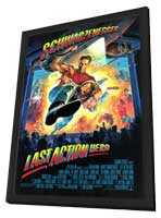 Last Action Hero - 11 x 17 Movie Poster - Style B - in Deluxe Wood Frame