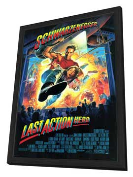 Last Action Hero - 27 x 40 Movie Poster - Style A - in Deluxe Wood Frame