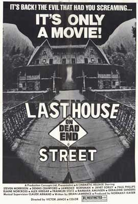 Last House on Dead End Street - 27 x 40 Movie Poster - Style A