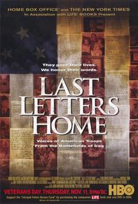 Last Letters Home: Voices of American Troops from the Battlefields of Iraq - 11 x 17 Movie Poster - Style A