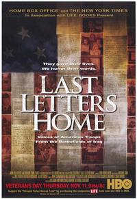 Last Letters Home: Voices of American Troops from the Battlefields of Iraq - 27 x 40 Movie Poster - Style A