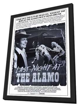 Last Night at the Alamo - 11 x 17 Movie Poster - Style A - in Deluxe Wood Frame