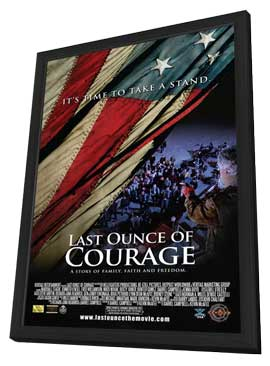 Last Ounce of Courage - 27 x 40 Movie Poster - Style A - in Deluxe Wood Frame
